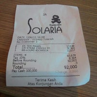 Photo taken at Solaria by Bandiey G. on 6/7/2015