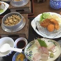 Photo taken at お食事処 秀 by Sawa on 4/11/2015