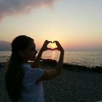 Photo taken at Aeolos Beach Bar by Ekaterinka U. on 7/13/2015