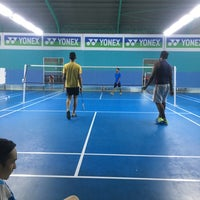 Photo taken at Pro One Badminton Centre by Rusydi R. on 12/16/2016