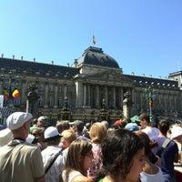 Photo taken at Paleizenplein / Place des Palais by Jeroen on 7/21/2013