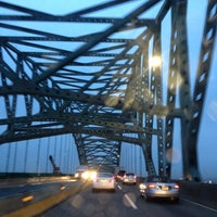 Photo taken at Vincent R. Casciano Memorial Bridge (Newark Bay Bridge) by Shell C. on 1/11/2013