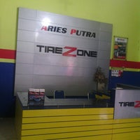 Photo taken at ariesputra tire zone by Agung P. on 3/20/2014