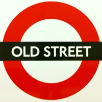 Photo taken at Old Street London Underground Station by Aleph Z. on 12/20/2012