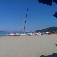 Photo taken at Beach Punta Ala by Stefano F. on 7/1/2013