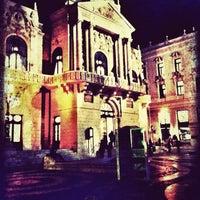 Photo taken at Színház tér by Dorina P. on 3/9/2012