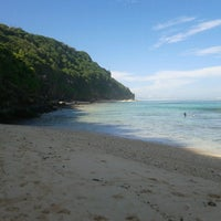 Photo taken at Bali Cliff Beach by Gusti Ayu Devi N. on 6/8/2013