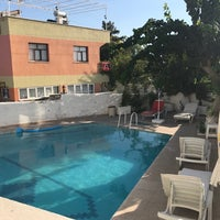 Photo taken at Kervansaray Hotel Pamukkale by Vedat K. on 9/5/2017