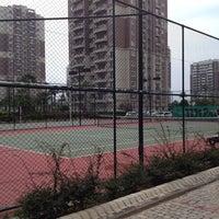 Photo taken at Soyak mavisehir tenis kortlari by Gürsel & Deren & Duru Z. on 5/10/2014