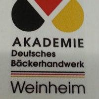 Das Foto wurde bei Akademie Deutsches Bäckerhandwerk Weinheim von Marco B. am 2/11/2014 aufgenommen