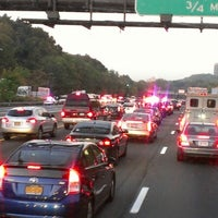 Photo taken at Long Island Expressway (LIE) (I-495) by Larry G. on 10/18/2012