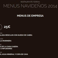 Foto tomada en Restaurante Ferran por RestauranteFerran B. el 12/9/2014
