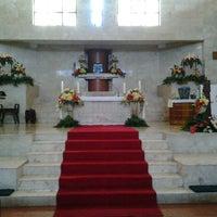 Photo taken at Gereja Katolik Salib Suci by Lucia T. on 4/19/2014
