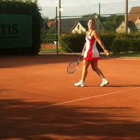 Photo taken at TCM   Tennisclub Merelbeke by Chloë V. on 6/8/2014