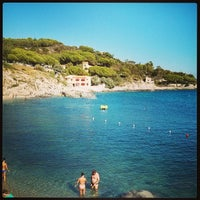 Photo taken at Spiaggia Seccheto by Alessandro G. on 9/13/2013