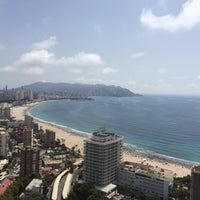 Photo taken at Benidorm West Beach by Esther C. on 8/7/2016
