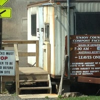 Photo taken at Union County Compost Facilty/Natures Choice by Mike D. on 4/16/2013