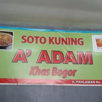 Photo taken at Soto Kuning A'Adam Khas Bogor by Liana W. on 3/4/2017