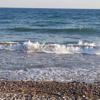 Photo taken at Tece Plajı by Mehmet E. on 6/5/2014