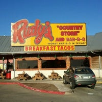 Photo taken at Rudy's Country Store & Bar-B-Q by excitable h. on 10/19/2012