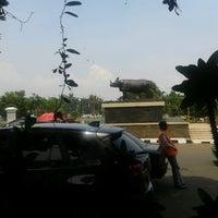 Photo taken at Tugu Badak Alun-alun Pandeglang by Selvi a. on 10/24/2012