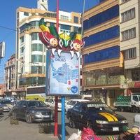 Photo taken at Terminal de Buses Oruro by Israel P. on 7/21/2014