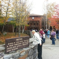 Photo taken at Flume Gorge by Andrew K. on 10/7/2012
