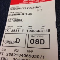 Photo taken at TK2531 Bodrum-İstanbul by Suat B. on 8/10/2014
