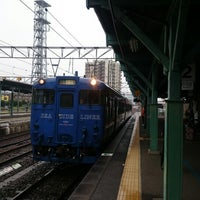 Photo taken at 早岐駅 1-2番ホーム by つじやん 岡. on 9/19/2014