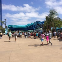 Photo taken at SeaWorld Annual Passport Member Entrance by Gabriela S. on 8/19/2014
