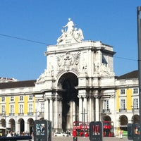 Photo taken at Praça do Comércio (Terreiro do Paço) by Hrvoje L. on 10/5/2012
