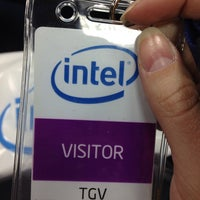 Photo taken at Intel by Александра Л. on 4/11/2014