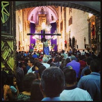 Photo taken at Templo de San Francisco by Chente B. on 3/29/2013
