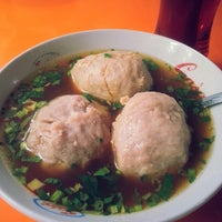 Photo taken at Bakso Kumis by Lucya V. on 2/6/2014
