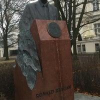 Photo taken at Pomnik Ronalda Regana by Marcin H. on 11/28/2015
