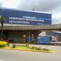 Photo taken at Aeroporto Internacional Porto Alegre by Isabela G. on 4/20/2014