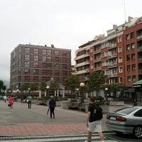 Photo taken at Plaza San Pedro de Deusto by JUAN FELIX I. on 7/2/2014