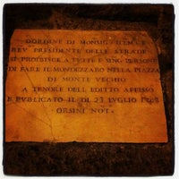 Photo taken at Piazza di Monte Vecchio by Valerio P. on 4/21/2013