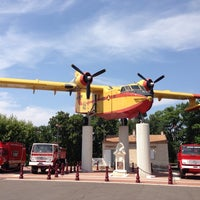 Photo taken at Place Du Canadair by Franck N. on 7/20/2013