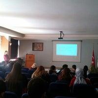 Photo taken at Konferans Salonu - Eczacılık Fakültesi by İsmail Ö. on 2/15/2017