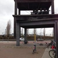 Photo taken at Voor de Bijen (gestapelde tafels) by Ad V. on 4/16/2013