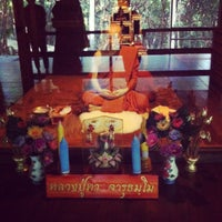 Photo taken at วัดถ้ำซับมืด by Ning T. on 10/12/2012