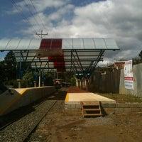 Photo taken at Andén Tren Urbano - Tres Rios by E M. on 11/11/2012