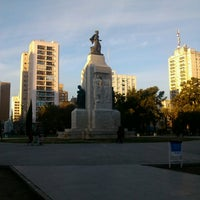 Photo taken at Plaza Rivadavia by Aldo V. on 7/22/2014
