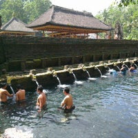Photo taken at Pura Tirta Empul (Tirta Empul Temple) by David L. on 6/8/2012
