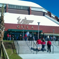 Photo taken at USF Sun Dome by Sean J. on 2/17/2013