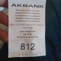Photo taken at Ak Bank Rize by Mehmet M. on 7/7/2014