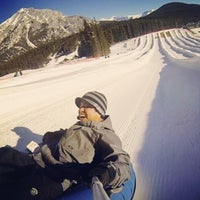 Photo taken at Mount Norquay Tube Hill by Axel Z. on 1/27/2014