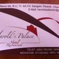 Photo taken at Harold's Palace Hotel Restaurant by Yusen R. on 5/29/2014