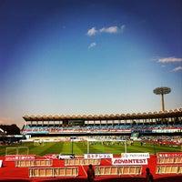 Photo taken at Todoroki Athletics Stadium by fumisquare on 10/20/2012